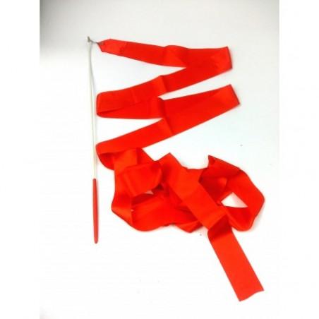 Wstążka gimnastyczna 4m czerwona