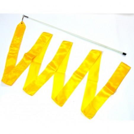Wstążka gimnastyczna 4m żółta